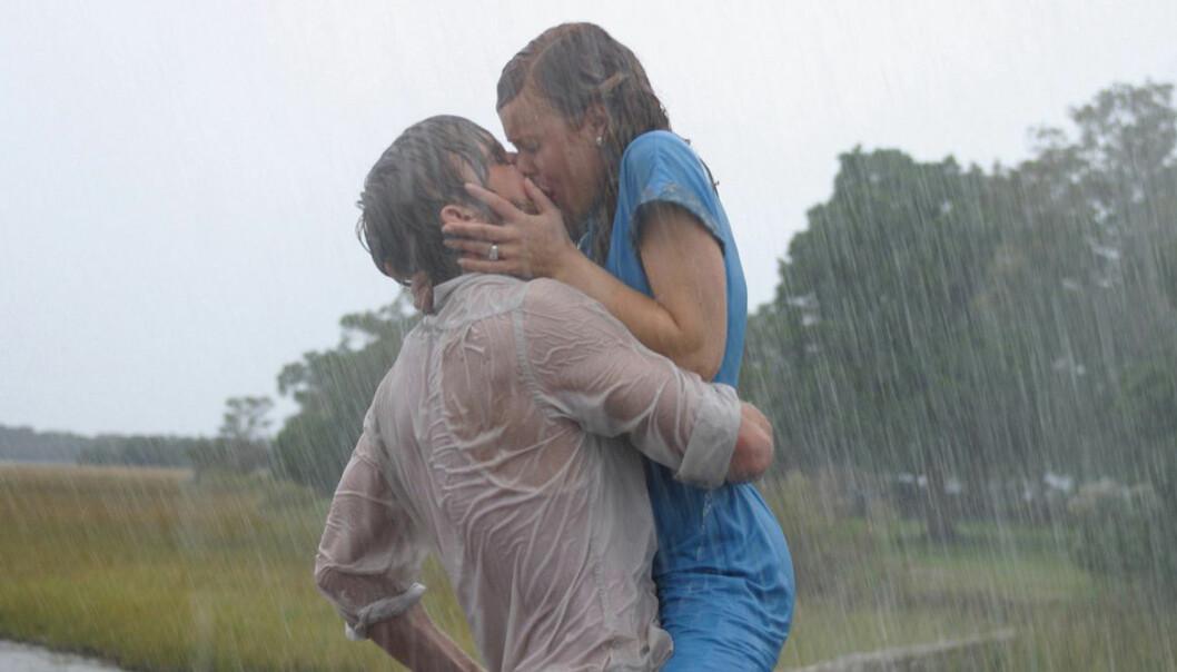 Ryan Gosling och Rachel McAdams kyss