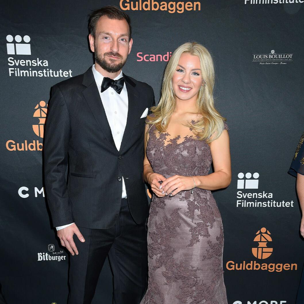 Therese Lindgren med hennes pojkvän Anders