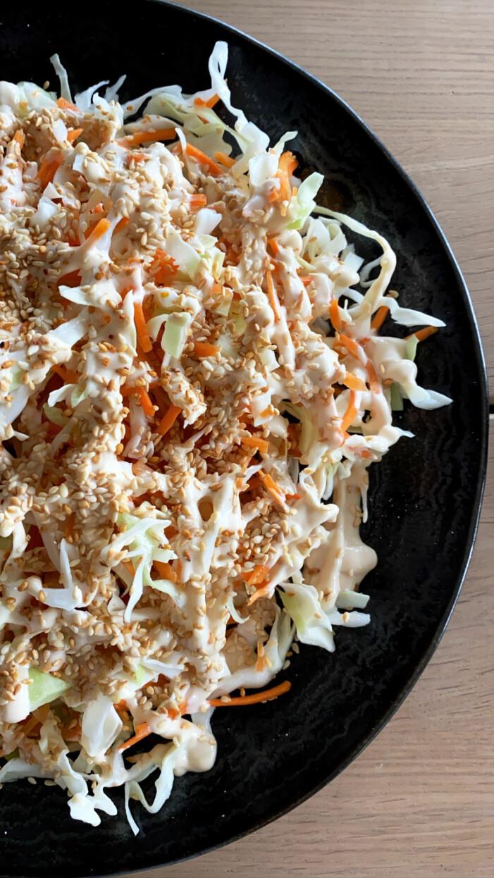 Recept på asiatisk råkostsallad
