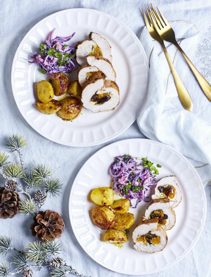 Recept på kalkonbröst med senapsrostad potatis