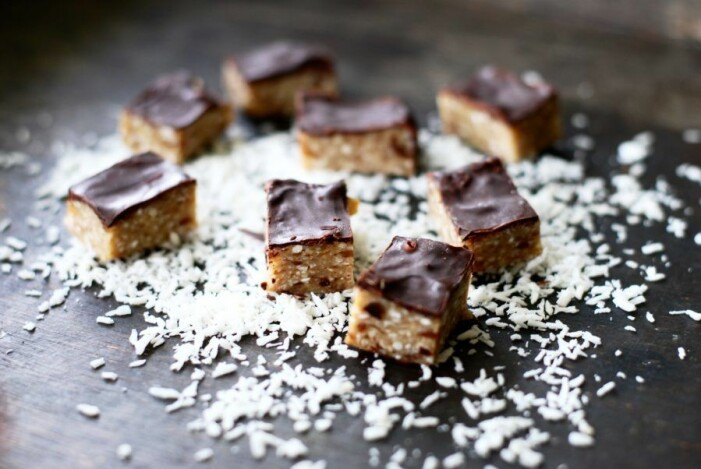 Recept på kokosbars med choklad