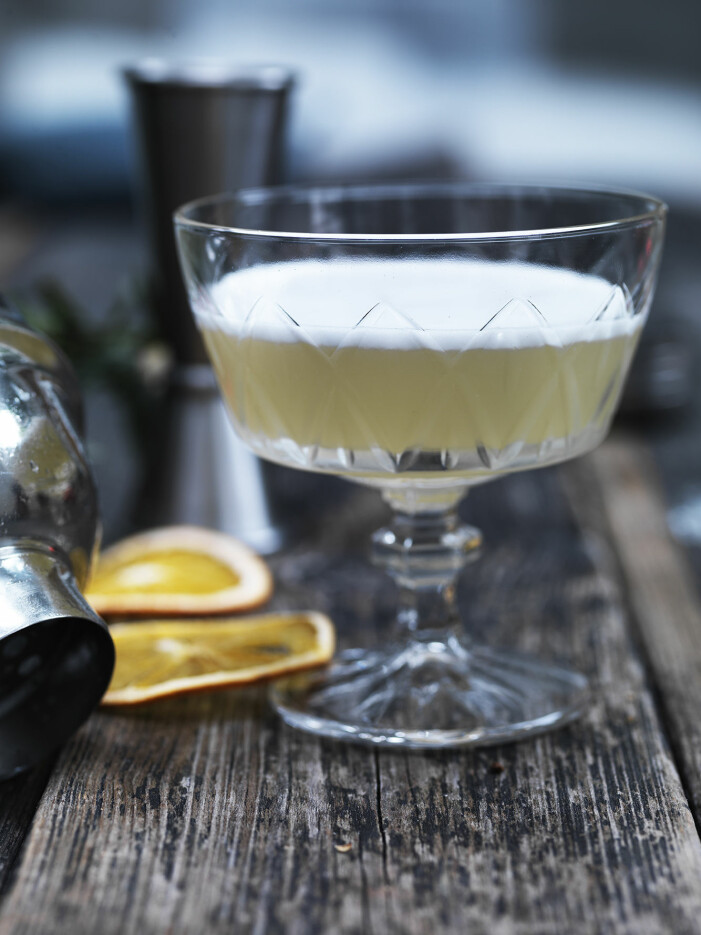 Recept på vegan white lady med aquafaba, trendig drink 2021