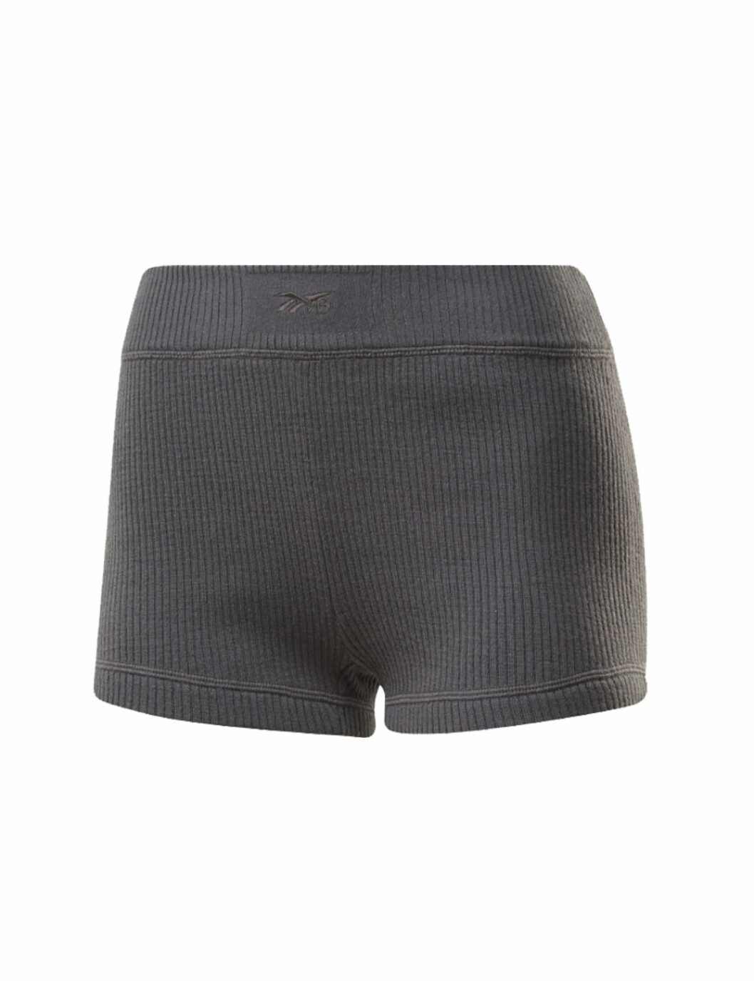 Reebok x Victoria Beckham 2020: grå ribbade shorts