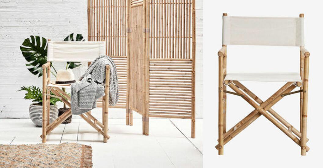 regissörsstol i bambu