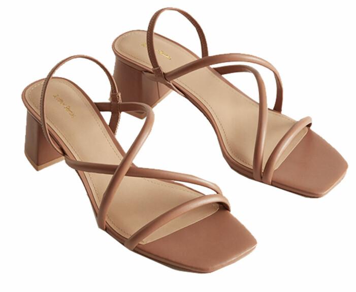 Bruna sandaletter med fyrkantig tå