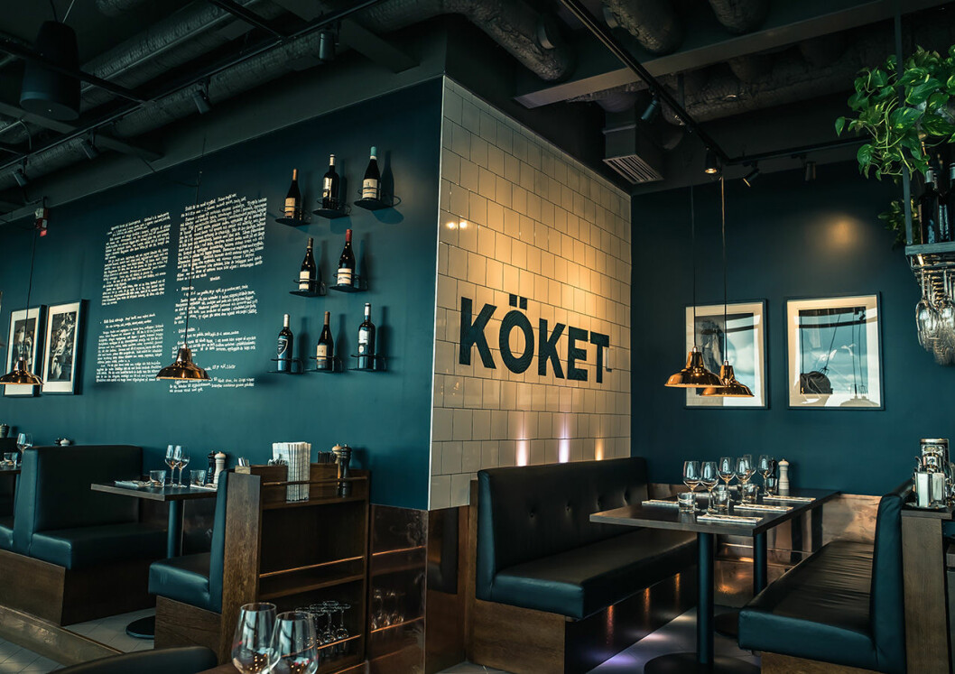 """I """"Köket"""" serverar fransk-svenska rätter."""