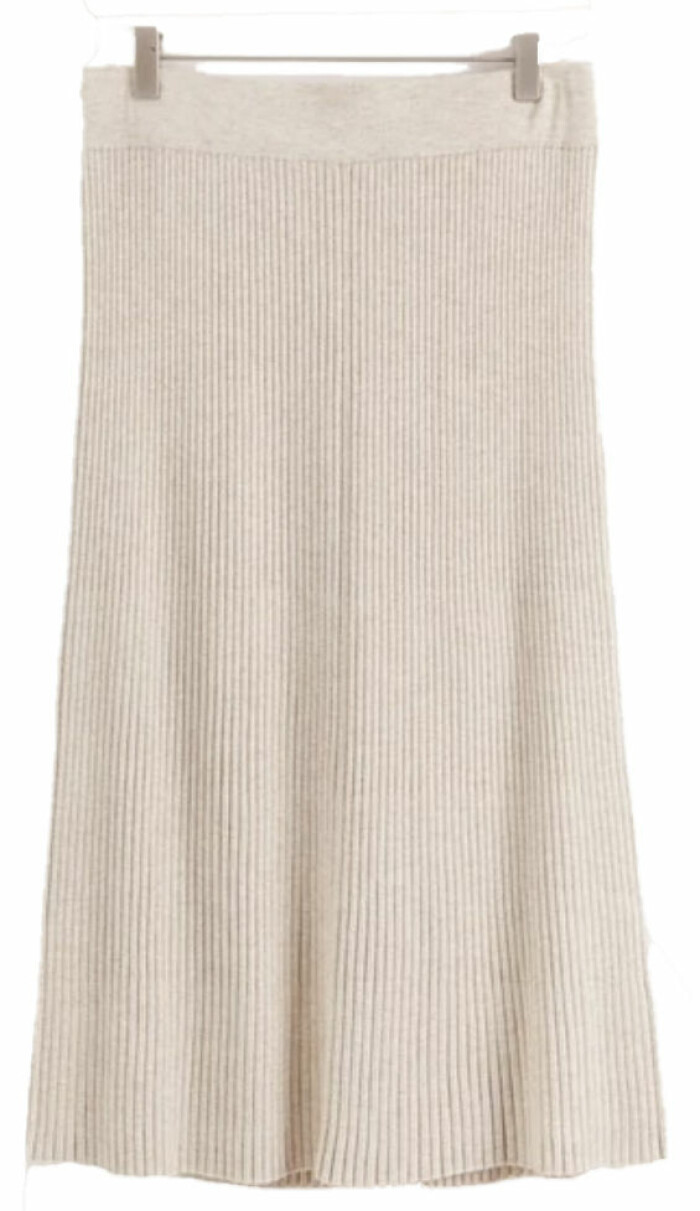 ribbstickad kjol från lindex.