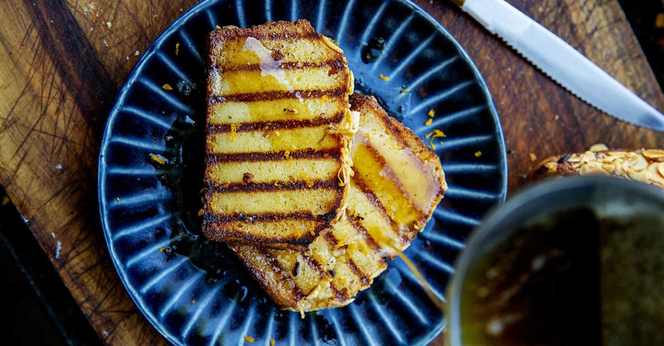 Ricottakaka med brynt smör, recept