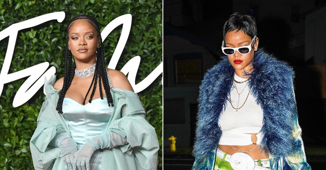 Rihanna på röda mattan.