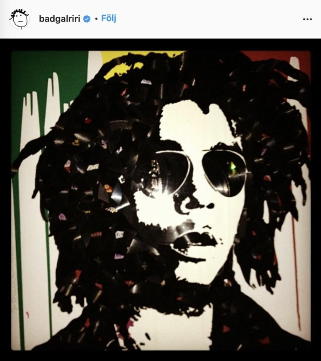 En tavla på Bob Marley