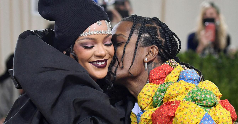 Rihanna och Asap Rocky på Metgalan 2021