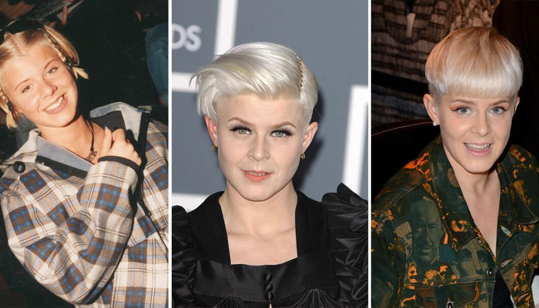 Robyn i olika frisyrer.