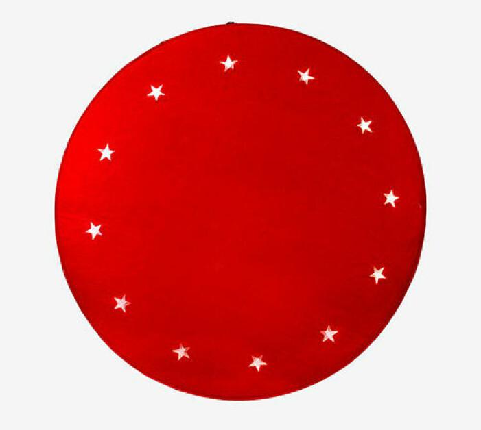 röd julgransmatta från star trading