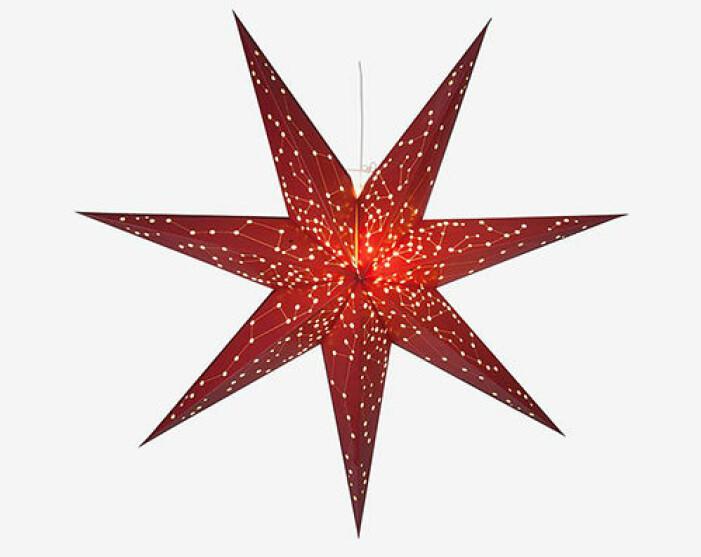 röd julstjärna från star trading