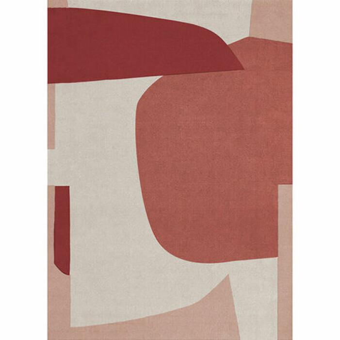 röd mönstrad matta från layered