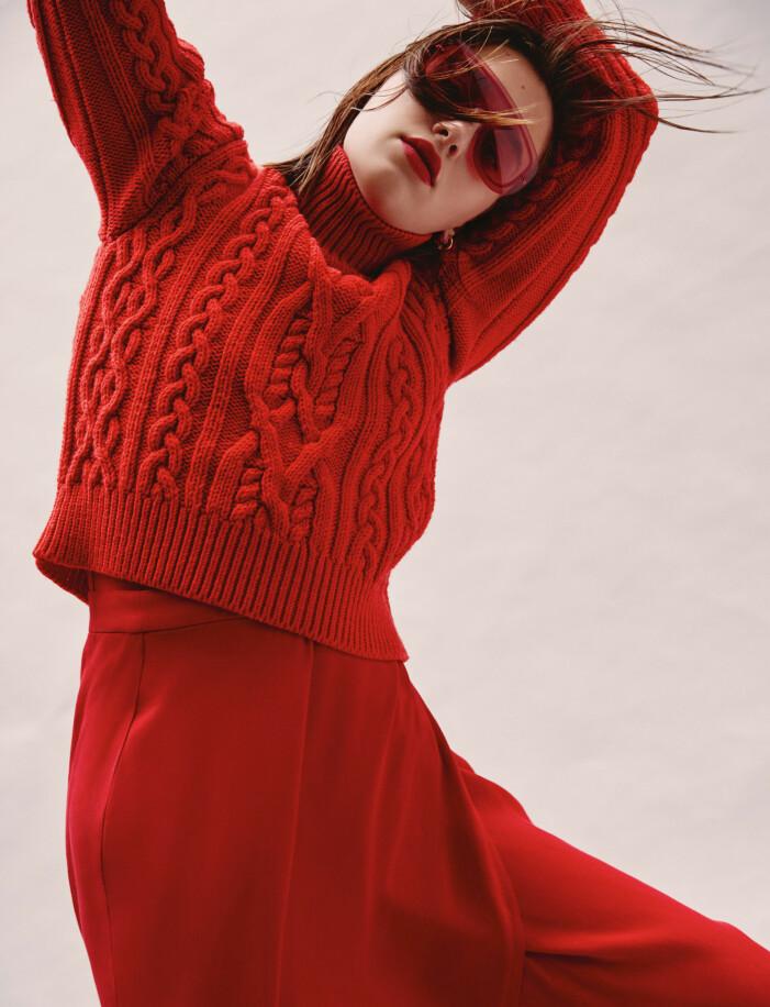 Röd stickad tröja från Paul Smith