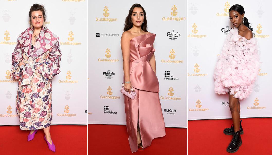 Bilder på kändisar på röda mattan på Guldbaggegalan 2020