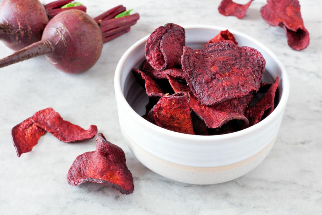 Recept på nyttiga rödbetschips