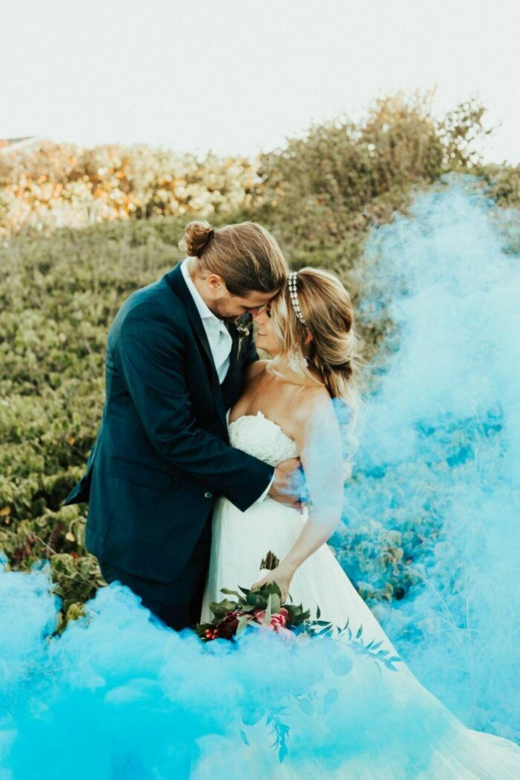 Rökbomb på bröllop
