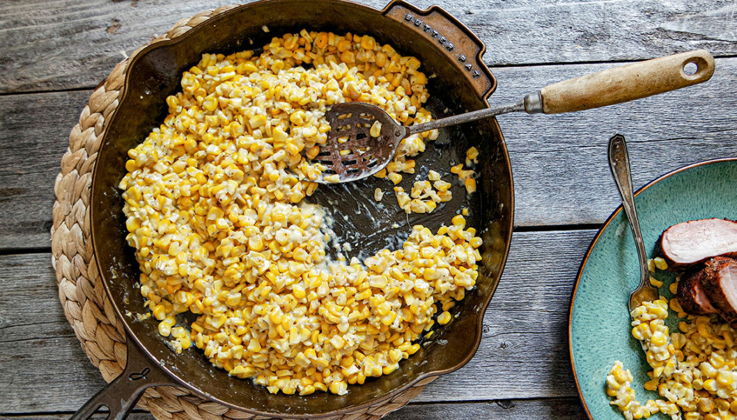 Recept på rökt cream corn