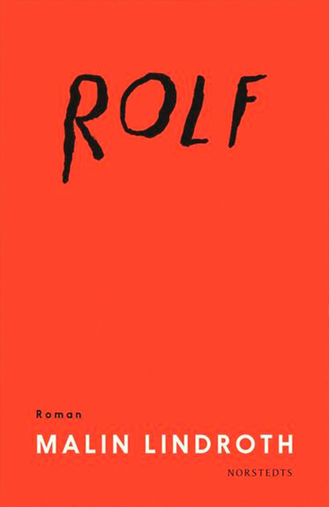 Bokomslag till Rolf, Röd framsida med texten Rolf handskrivet.