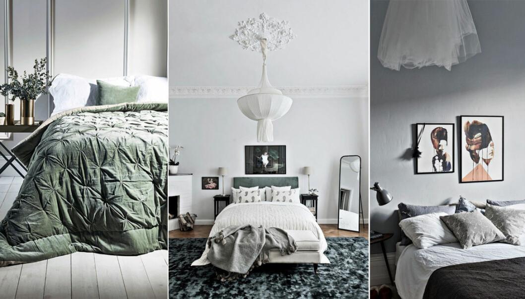 olika sovrum med romantisk stil