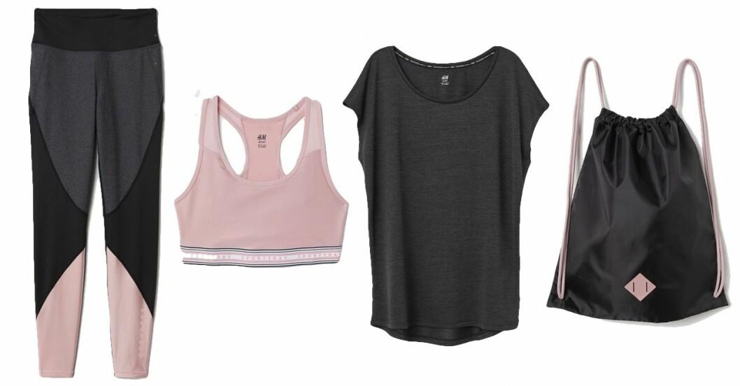 Rosa träningskläder set