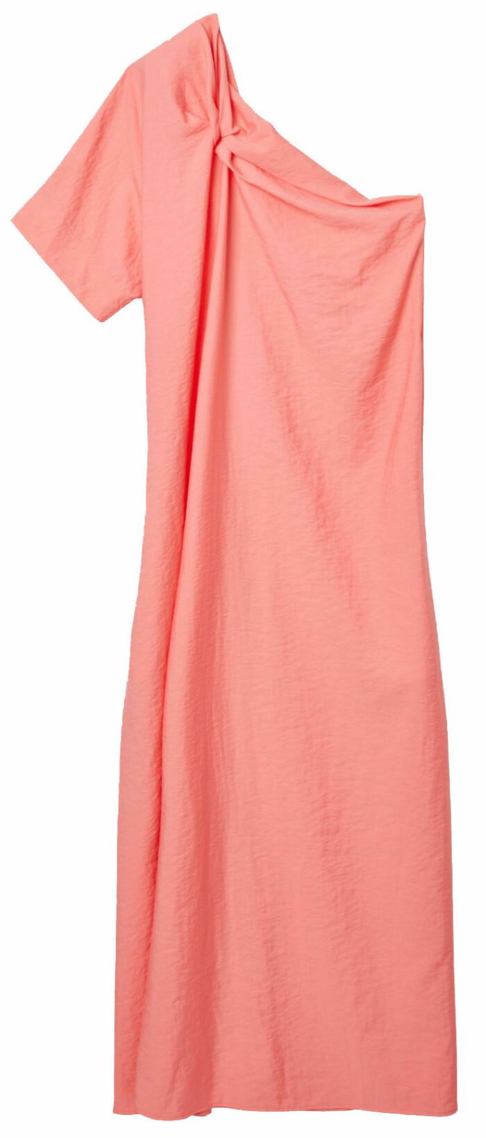 Rosa klänning i one-shoulder modell från Cos