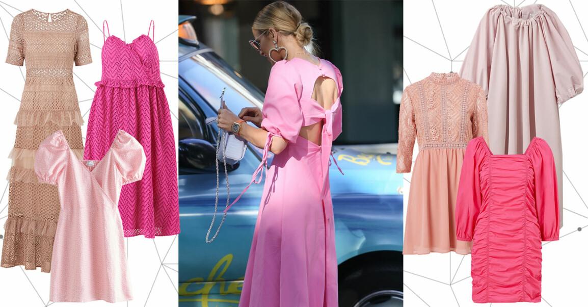 rosa klänning sommar 2021