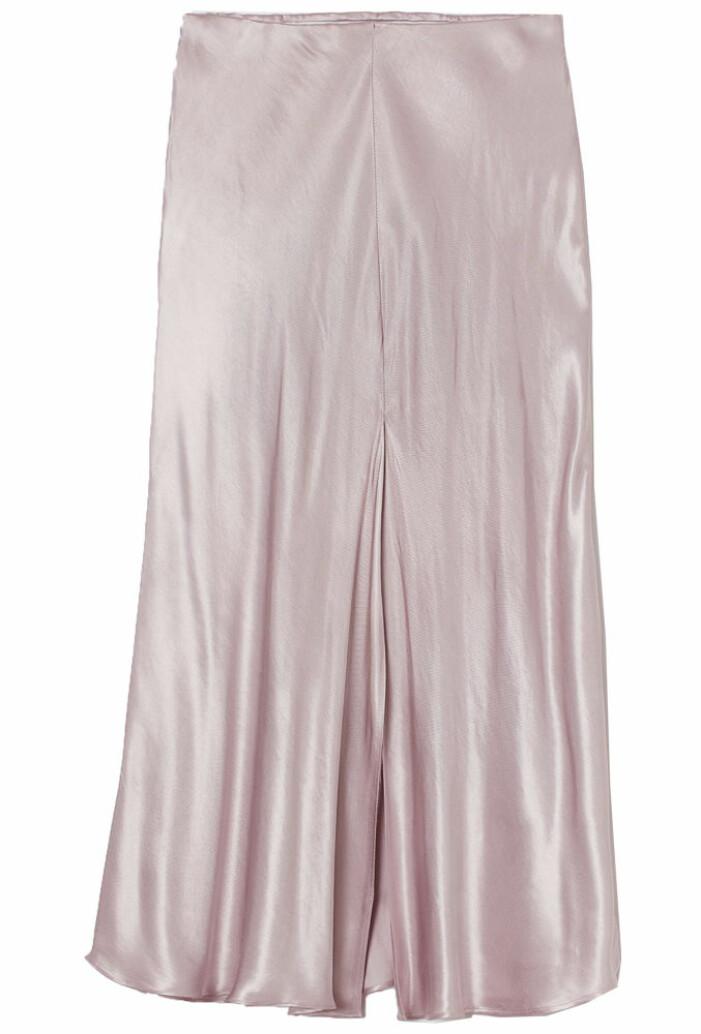 rosa satinkjol från H&M