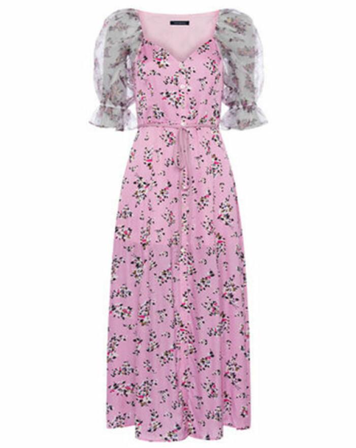 rosa mönstrad klänning