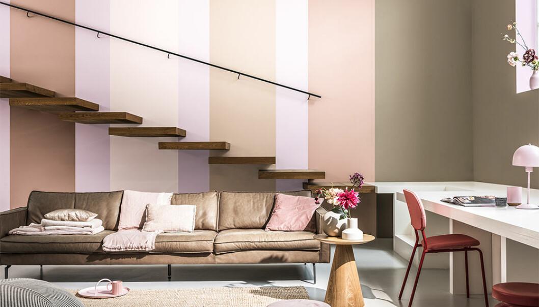 rosa och rött hos Nordsjö – trendfärger 2021