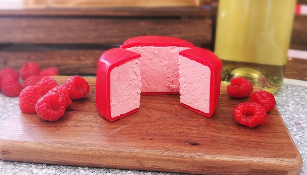 Rosa ost med hallon och prosecco.