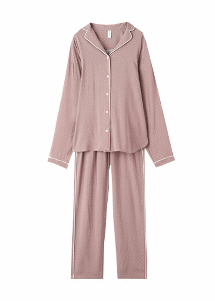 rosa-pyjamasset från ahlens
