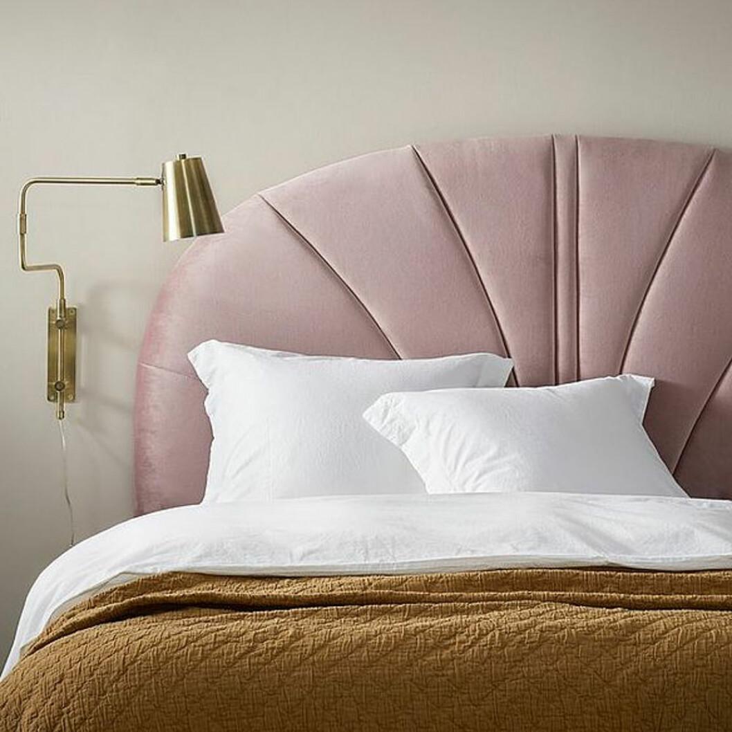 Rosa sänggavel