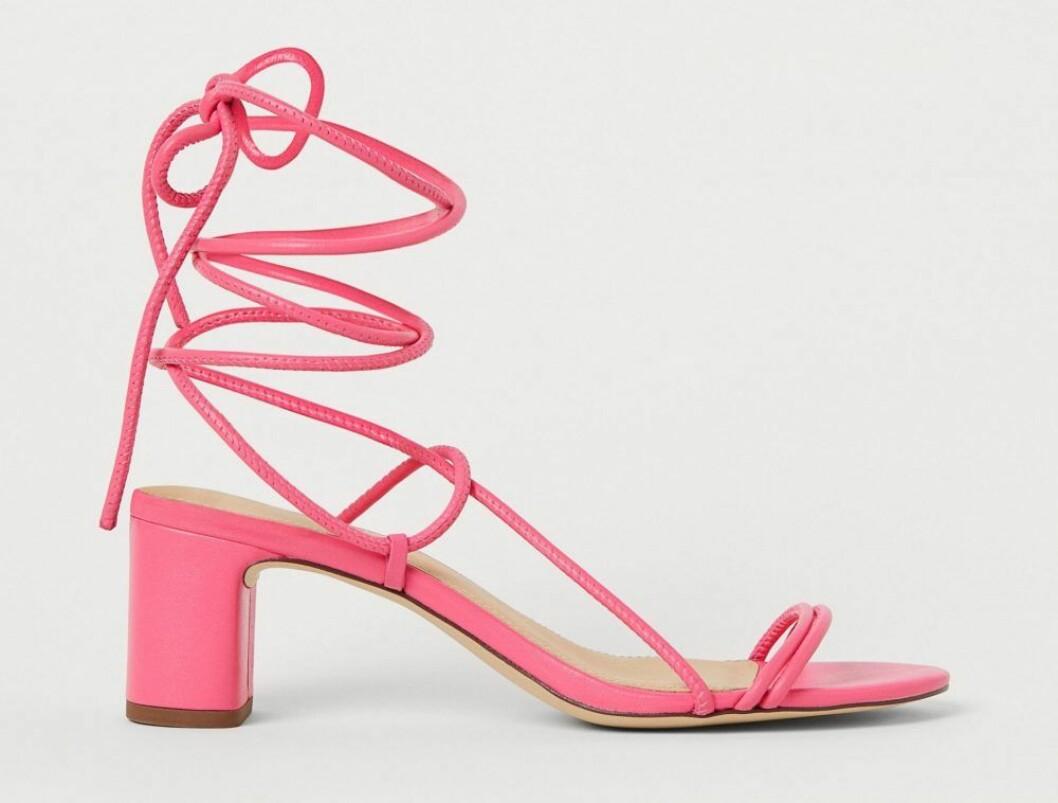 rosa sandaletter från hm