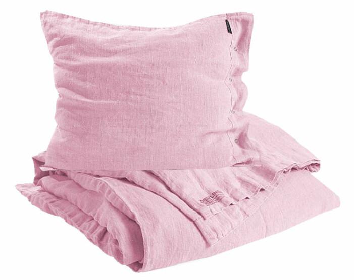 rosa sängkläder bäddset linne