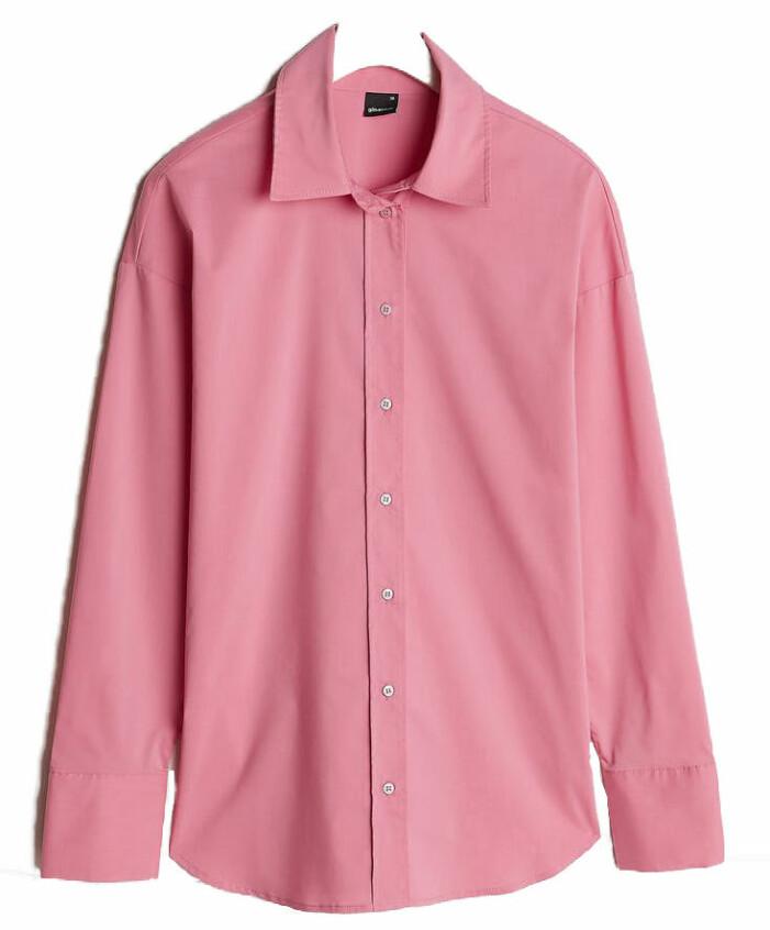 rosa skjorta från Gina tricot.
