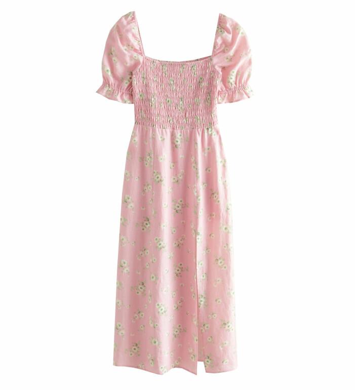 lång blommig klänning