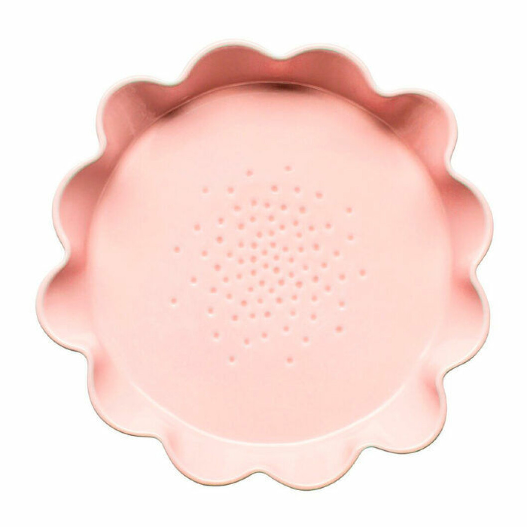 Rosa rund pajform