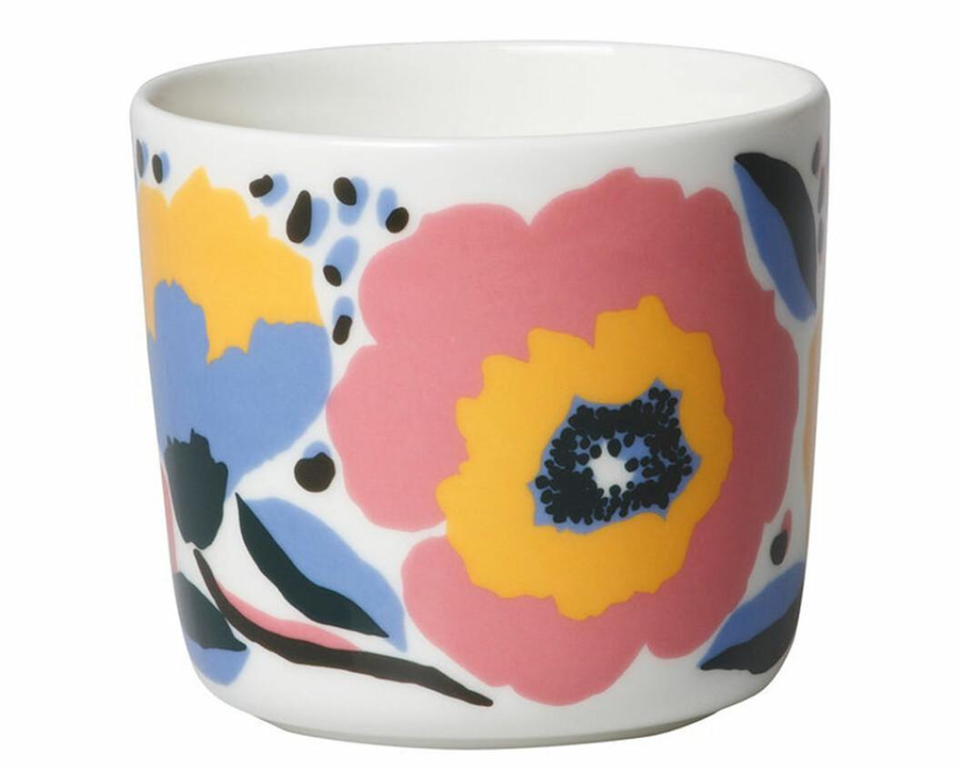 Kaffemugg från Marimekko med mönstret Rosarium