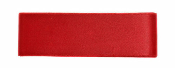 rött satinband