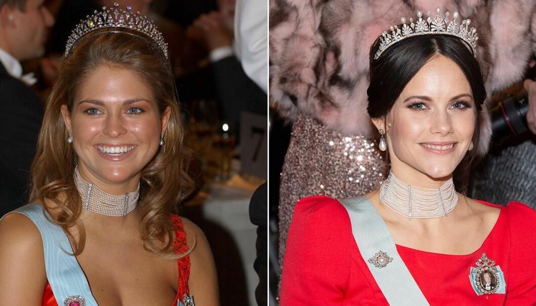 Madeleine och Sofia likadana halsband