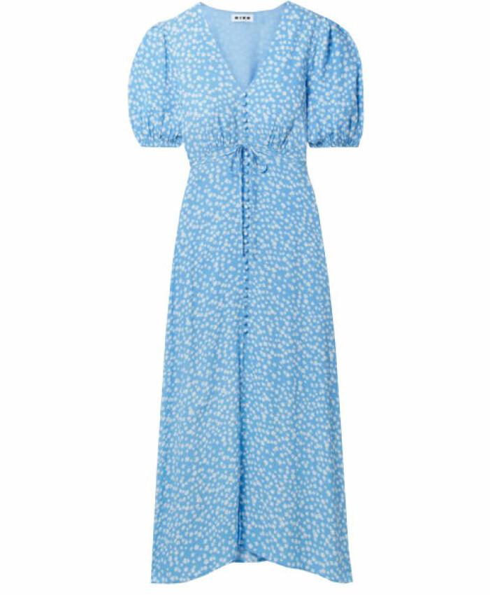 blå klänning puffärm