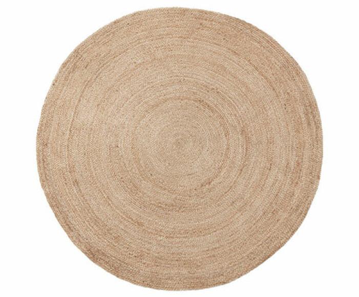 rund matta i jute från ahlens