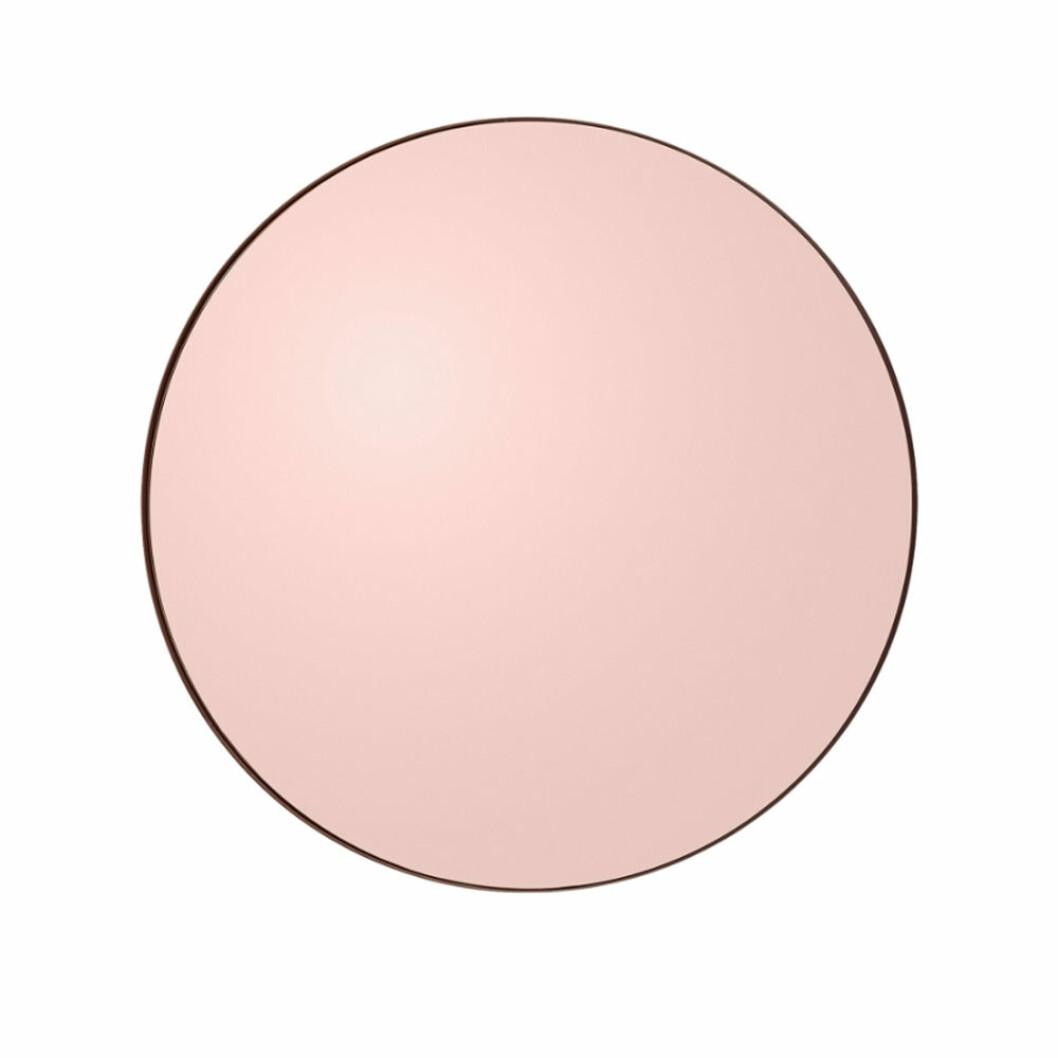 Rund spegel med rosa, tonat glas från AYTM