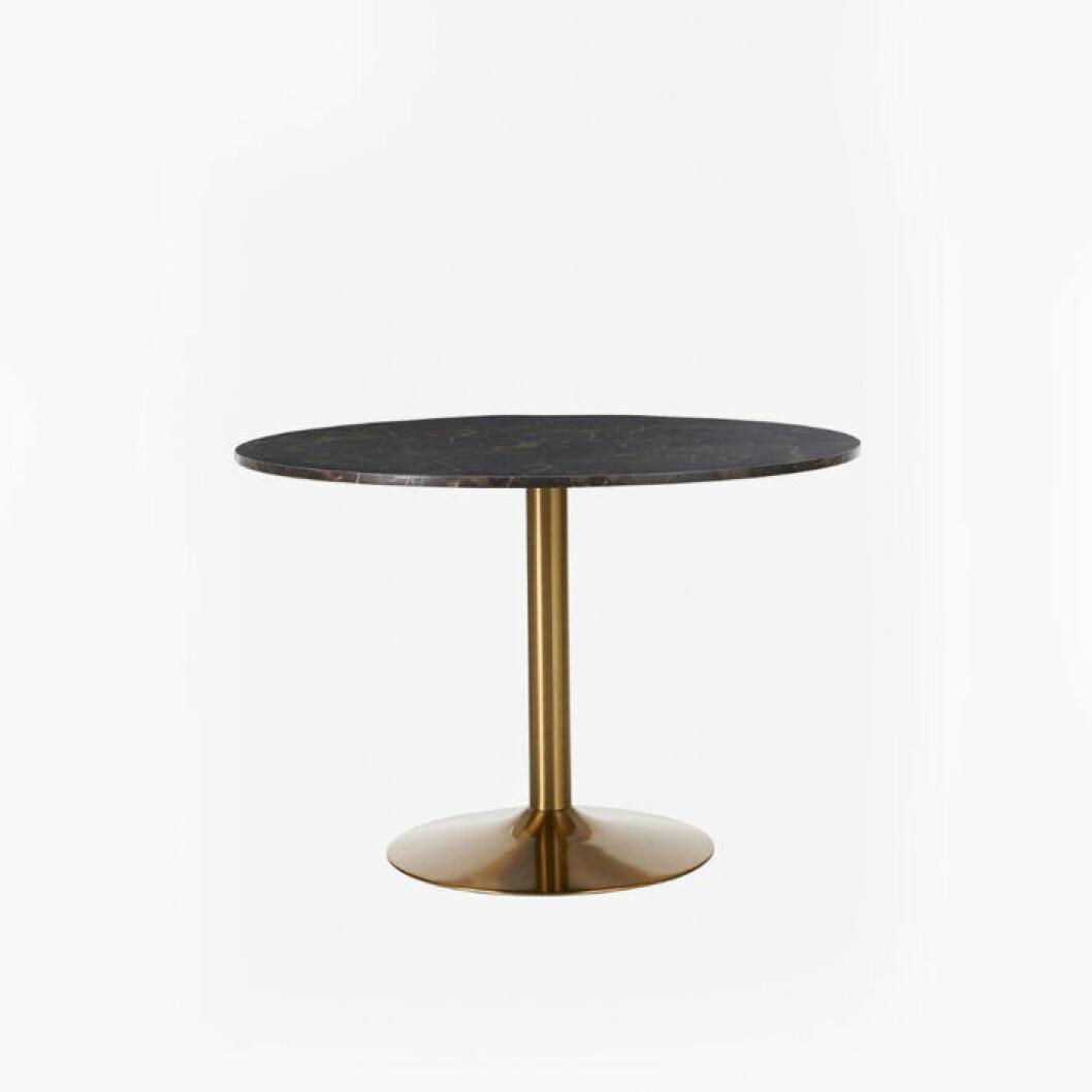 Svart bord med kopparben