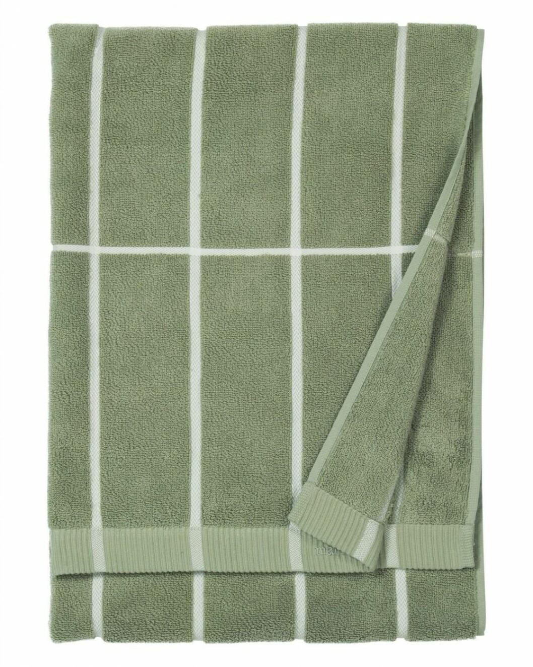 Grön handduk från Marimekko.