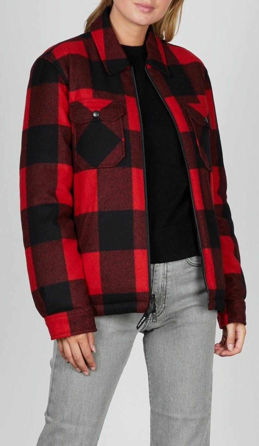 Vändbar och vadderad skjortjacka från Woolrich