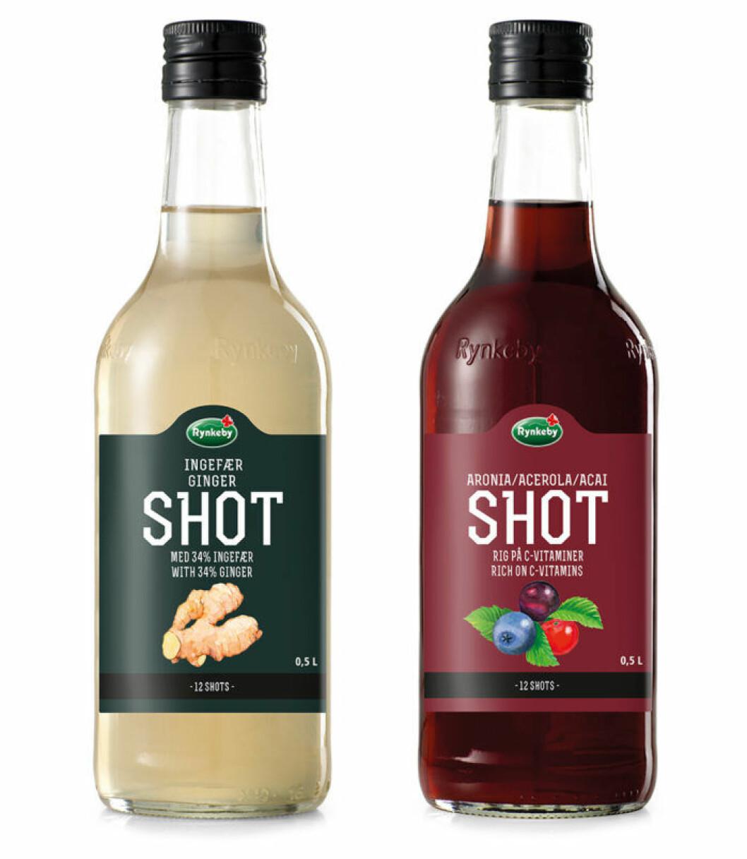Ingefära Shot och Aronia Shot från Rynkeby.